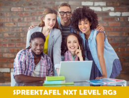 Spreektafel Nxt level RG3   Dinsdag-, donderdag- en vrijdagnamiddag van 12u45 tot 14u00 ( van 28/09/2021 tot 26/10/2021)   Locatie Hasselt campus Moderne Talen